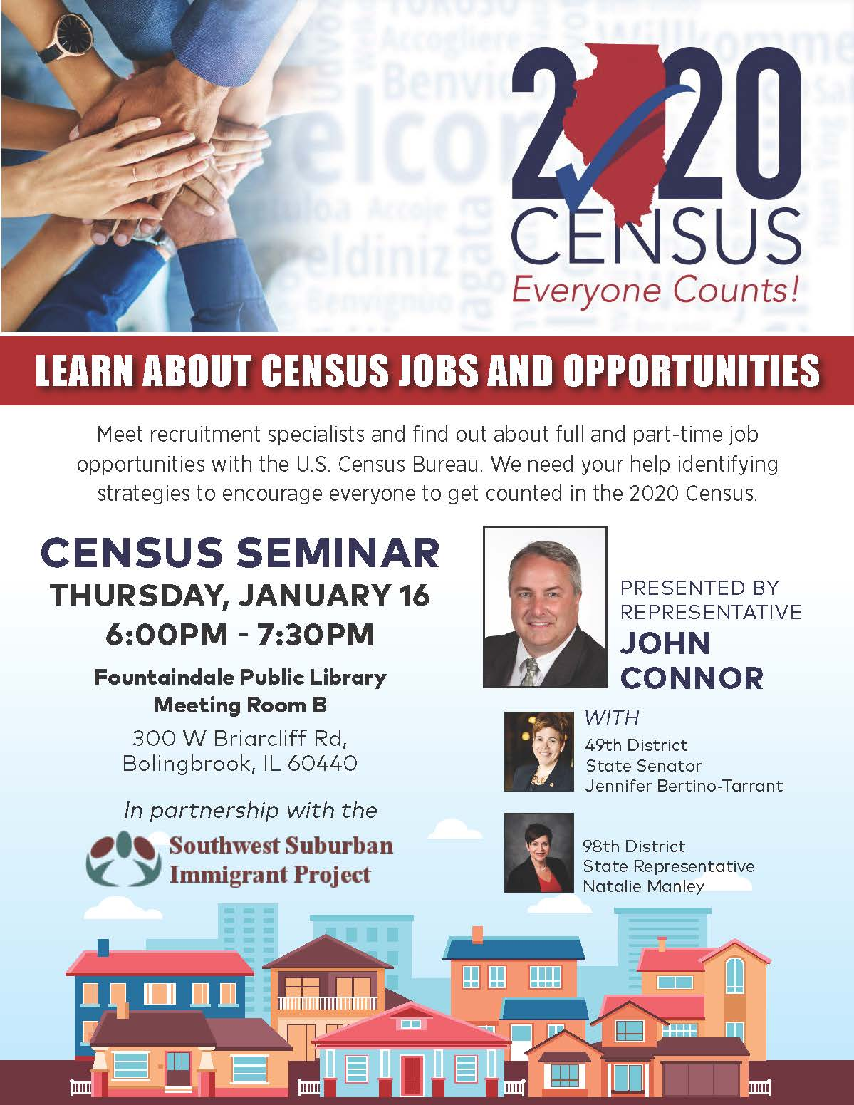 Census Seminar Flyer - Fountaindale Public Library Bolingbrook